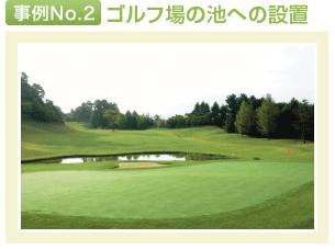 事例No.2 ゴルフ場の池への設置